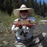 Tom Moore and I had a great day coaxing fat bellied fish into eating more salmon flies.